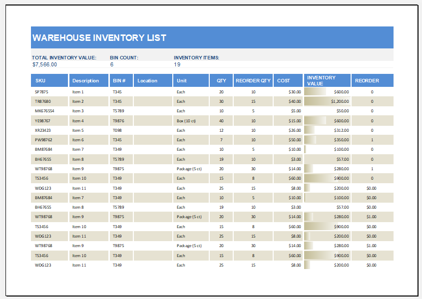 warehouse inventory list template for ms excel excel. Black Bedroom Furniture Sets. Home Design Ideas