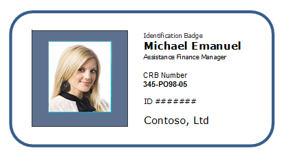 Id Badges Template Free Pertaminico - Card template free: employee id card template
