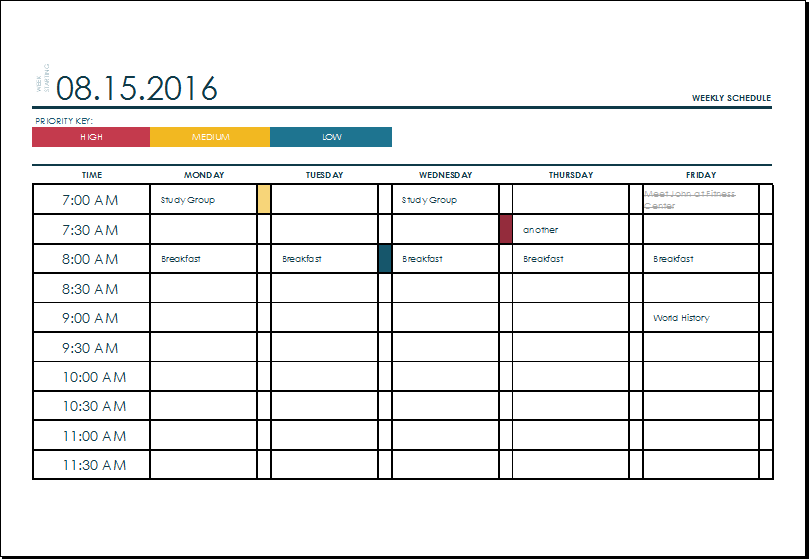 fillable weekly calendar template