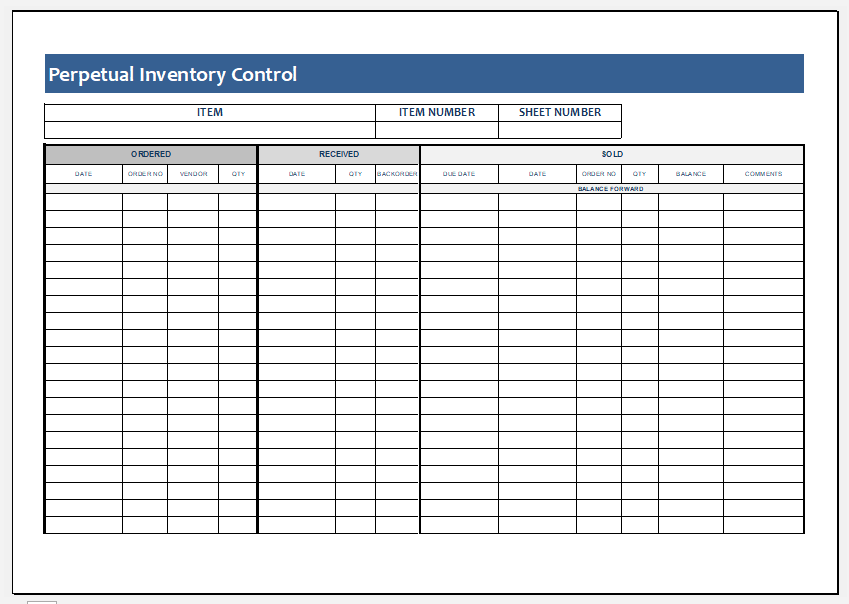 Ms Excel Comprehensive Inventory Control Template Excel Templates