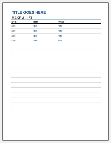 Inventory List Template For Ms Excel  Excel Templates