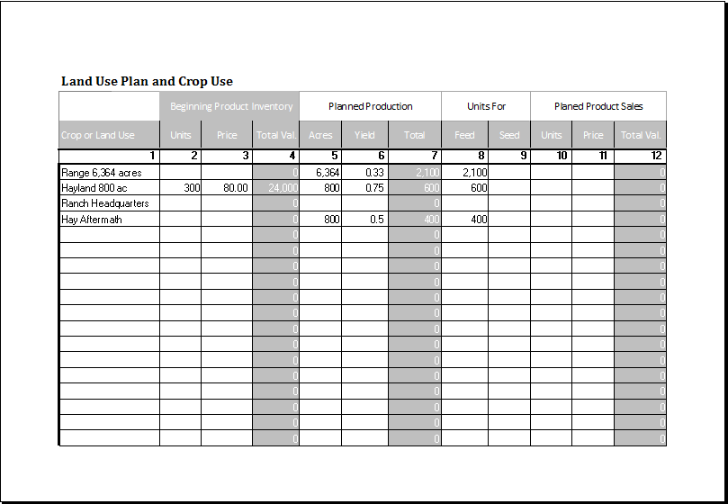 livestock business planner template