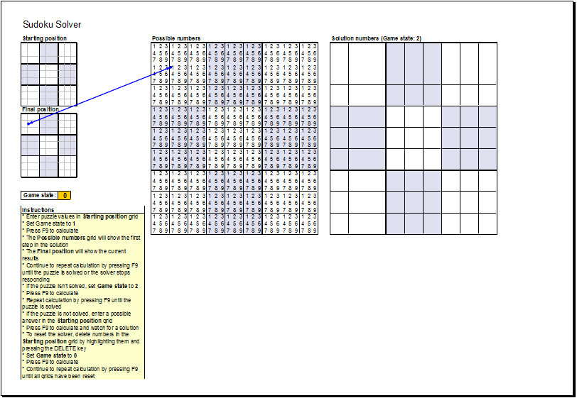 sudoku puzzle solver template ms excel excel templates