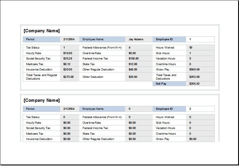 employee wages and holiday record worksheet excel templates