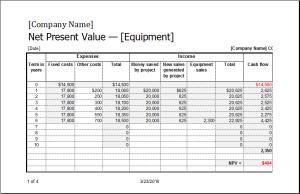 Net present value calculator