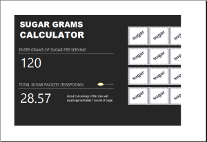 Sugar gram calculator