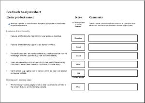 Feedback analysis worksheet