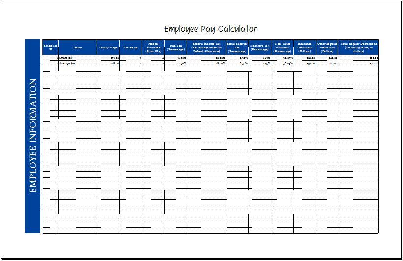 Employee pay calculator