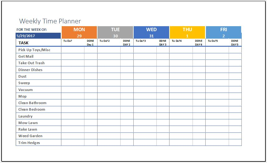 Weekly Time Planner