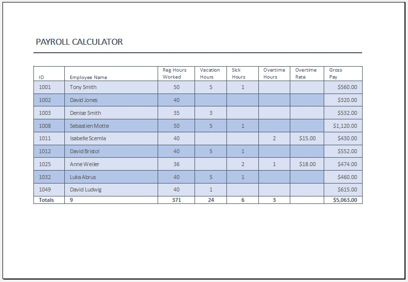 Net Salary Calculator Templates | 13+ Free Docs, Xlsx ...