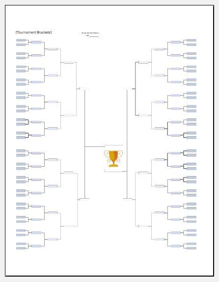 Football tournament bracket template